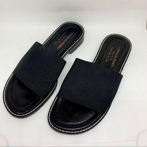 EUC - Donald J Pliner - Black Slide Sandals - 7M